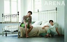 ZE:A's Siwan and Dongjun get cozy at home for 'Arena Homme Plus' | http://www.allkpop.com/article/2014/04/zeas-siwan-and-dongjun-get-cozy-at-home-for-arena-homme-plus