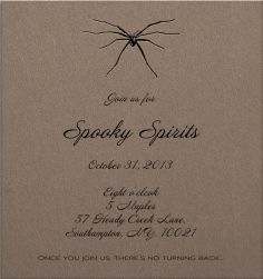 Hallowen Card Designs Black Halloween Themed Invitation Template