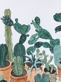 Finding Inspiration In Greenhouses - Katrina Sophia Cactus Plants, Projects To Try, Nature, Blog, Painting, Inspiration, Bonito, Biblical Inspiration, Painting Art