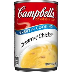 Campbells Condensed Soup Cream of Chicken 105 Ounce Pack of 48 -- Find out more about the great product at the image link. (Note:Amazon affiliate link) #FoodFrozenSnackFreshProduced