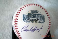 Charlie Hough and Benito Santiago Dual Autographed Baseball From the Groundbreaking Ceremony for the Miami Marlins New Ballpark | crazycollectors.com