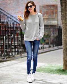 Jeans+moletom+tênis= eu todo dia :)