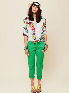 Free People Slouchy BF Chino