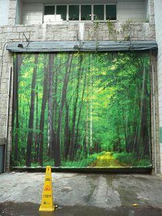 (Source: milkblossom, via mojitosandblow) Representation of the woods in the city...set design idea???