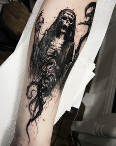 Evil tattoo by Brandon Herrera