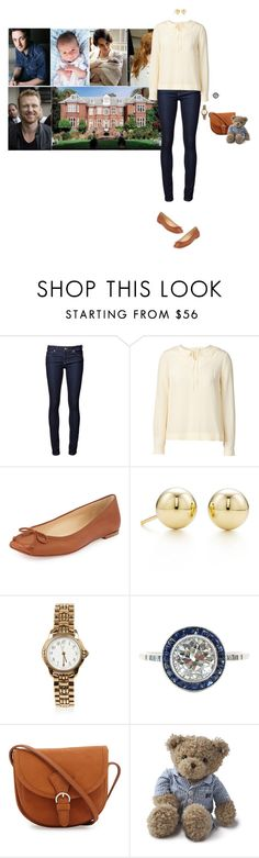 """""""Visiting Rose and Augustus's newborn son at Dunkeld Mansion with her father and being told the name of the baby"""" by hrhprincessamelia ❤ liked on Polyvore featuring Naked & Famous, Orla Kiely, Christian Louboutin, Tiffany & Co., Yves Saint Laurent, Lexington, women's clothing, women's fashion, women and female"""
