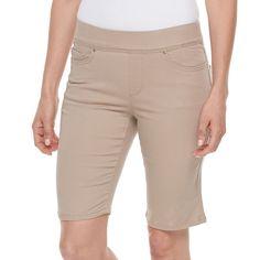 Petite Croft & Barrow® Pull-On Bermuda Shorts, Women's, Size: 10 Petite, Med Blue