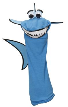 Help the kids create a DIY shark hand puppet to act out funny scenes this summer. | Sock Puppet @joannstores