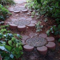 Brick flower path