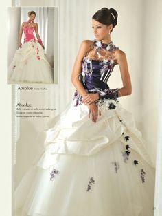 Robe de mariee avec violet