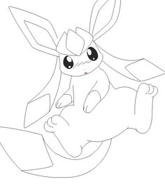glaceon lineart 1 by michy123 on DeviantArt