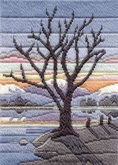 Winter Evening Long Stitch Kit from Derwentwater Designs