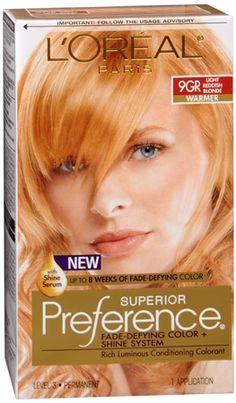 L'Oreal Superior Preference - 9GR Light Reddish Blonde (Warmer) 1 Each