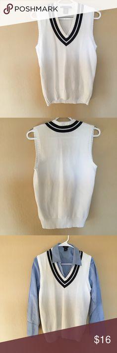 RALPH LAUREN Sweater Vest V-neck Varsity Stripe Sweater Vest by Ralph Lauren Golf. ✨OFFERS WELCOME✨ Ralph Lauren Jackets & Coats Vests