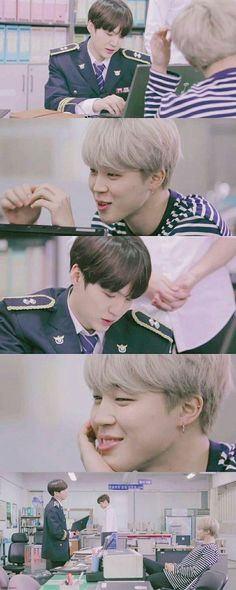 RUN BTS / you have to admit, whoever edited this really does make jimin look like he is so in love with yoongi. Jimin Jungkook, Bts Bangtan Boy, Taehyung, Yoongi Bts, Park Ji Min, Namjin, Jikook, K Pop, I Need U Bts
