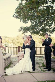 You may now kiss your bride! #herringtoninn #weddings #genevail