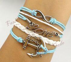 Infinity Anchor & Love Charm BraceletAntique par TheGiftoftheMagi, $5,99