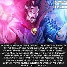 Marvel Fact 350: Doctor Strange's title as Sorcerer Supreme