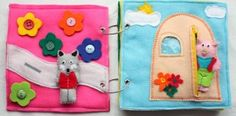 Quiet Felt Books - I need to make a few of these.  They should be just as easy to make as Alexa's felt pillow.