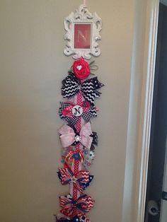 Initial Hair Bow Hanger  by MerryLittleDarlings on Etsy, $15.00