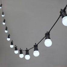 20 LED White Connectable Festoon Lights, Type U