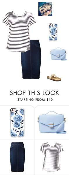 """stripes and roses"" by modest-flute on Polyvore featuring Casetify, Cynthia Rowley and Citizens of Humanity"