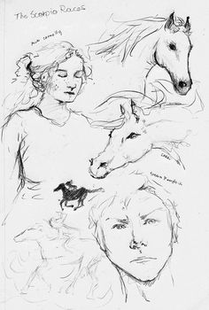 1 sketch page for The Scorpio Races by blalua on DeviantArt