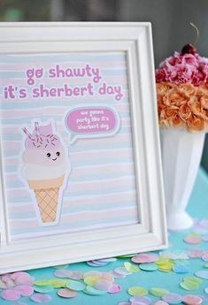 Third Birthday Girl, Girl Birthday Themes, Summer Birthday, 6th Birthday Parties, Birthday Ideas, Happy Birthday, 15th Birthday, Sorbet, Popsicle Party
