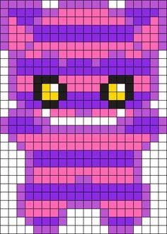 Chesire Cat Perler Bead Pattern / Bead Sprite