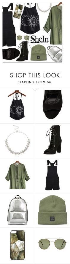 """""""army shein"""" by jesskleistnerova ❤ liked on Polyvore featuring Lipsy, Kendall + Kylie, Eloqueen, WearAll, 3.1 Phillip Lim, Herschel Supply Co., Rafé New York and Forever 21"""