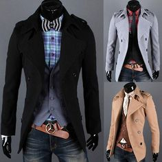 Double Breasted Slim Wool Coat | Sneak Outfitters