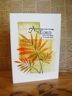 Praise Him with your stamps.  Hero Arts Fern Verve Sentiment CODE: AEM034