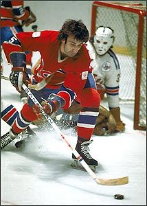 Guy Lapointe was a skilled puck handler and skater who was equally effective at both ends of the ice. Rangers Hockey, Hockey Goalie, Hockey Teams, Hockey Players, Ice Hockey, Montreal Canadiens, Hockey Pictures, Vancouver Canucks, Nfl Fans