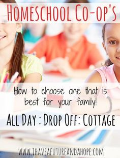 Homeschool Co-op: Choosing one that is best for your family!