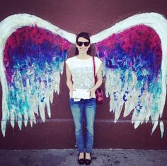 """What: """"Angel Wings"""" by Colette Miller Where: St. Regis Wine & Liquor, 8401 West 3rd Street (at S Orlando Avenue), Beverly Grove"""