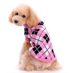 Malloom New Winter Plaid Sweater Coat Puppy Dogs Cat Clothes Costume Knitwear Apparel *** Click image for more details. (This is an affiliate link and I receive a commission for the sales)