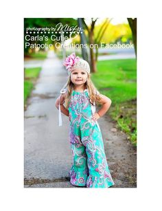 ON SALE Whimsy Couture Sewing Pattern -- Pillowcase Romper -- preemie through 10 girls w. ruffles 3 leg lengths Instant PDF