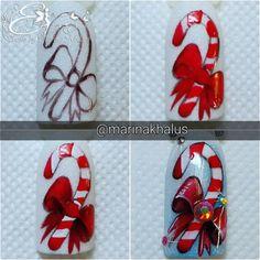 #nails #new #years #nails Nail Art Noel, Xmas Nail Art, Christmas Gel Nails, Holiday Nail Art, Deer Nails, 3d Flower Nails, Santa Nails, Fruit Nail Art, Nail Art Techniques