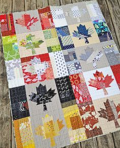 Oh Canada by Green Couch Designs (pattern by Cheryl Arkison) Quilting Projects, Quilting Designs, Sewing Projects, Cute Quilts, Mini Quilts, Canadian Quilts, Quilts Canada, Quilt Of Valor, Modern Quilt Patterns