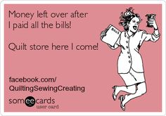 """I enjoy writing about quilts and I enjoy laughing about the whole process as well. On my Facebook page I post a """"quilt funny"""" every day. Some are definitely funnier than others but I have a great time trying to think of new ways to smile along with my sewing and quilting. Quilters are happy... <a href=""""http://www.chicagonow.com/quilting-sewing-creating/2015/01/even-more-quilt-e-cards/"""" class=""""more-link"""">Read more »</a>"""