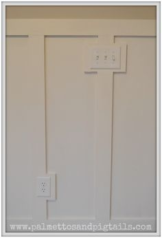 Board and Batten around light switches in a vintage themed nursery