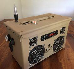 Munición puede Boombox Stereo recargable V.2 Tan
