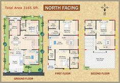 House Plan For North Facing House According To Vastu North Facing House West Facing House Indian House Plans