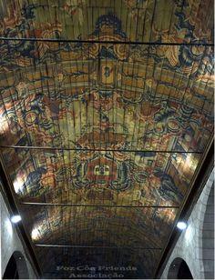Pormenor do tecto da Igreja Matriz de Vila Nova de Foz Coa