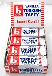 Bonomo's Turkish Taffy  - from my childhood - except my favorite was the Chocolate!!!