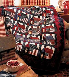Star Spangled Liberty Houses Vintage Patchwork Block Quilt Pattern | eBay