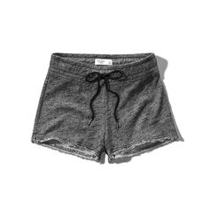 Abercrombie & Fitch Fleece Cutoff Shorts (250 ZAR) ❤ liked on Polyvore featuring shorts, abercrombie, dark grey, cutoff shorts, fleece shorts, abercrombie & fitch, cut-off and cut off shorts