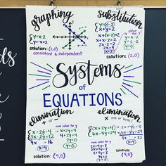 Systems of Equations #AnchorChart 🙌🏼 Plus swipe to see my @quizlet #quizletlive student ENTHUSIASM WHICH IS COMPLETE 🔥🔥