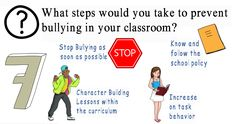 Teacher Interview Question and Answer for teachers of various grades and disciplines Teacher Interview Questions, Teacher Interviews, Question And Answer, This Or That Questions, Bullying Prevention, Stop Bullying, Curriculum, Behavior, Classroom
