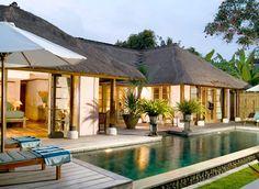 Bali style outdoor water garden pool